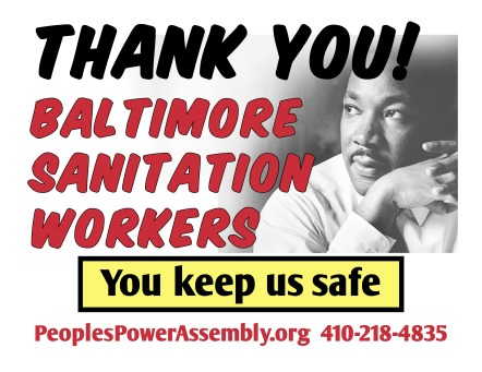 Thank you Baltimore sanitation workers